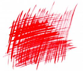 picture of cross-hatch  - Abstract red cross strokes isolated on white background - JPG