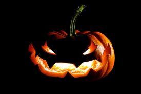 picture of jack o lanterns  - Glowing Halloween jack o - JPG