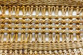 Pattern Nature For Background Of Handicraft Weave Texture Wicker Surface poster