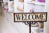 Vintage Plate Welcome poster