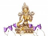 image of tantric  - indian statue and floral elements - JPG