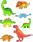 pic of paleontologist  - Cartoon dinosaur collection isolated on the white - JPG