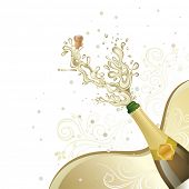 picture of champagne glass  - champagne explosion - JPG