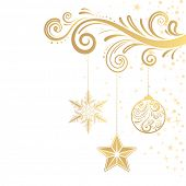 Постер, плакат: Рожденственский орнамент и звезда