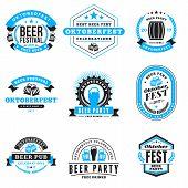 Beer Festival Oktoberfest Celebrations. Set Of Retro Vintage Beer Badges, Labels, Logos For Bar, Pub poster