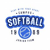 Emblem Of Softball Team poster