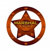 stock photo of criminology  - Marshal abstract badge - JPG