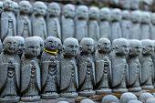 Buddha Figures Of Hase-dera Temple In Kamakura, Japan poster