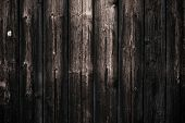 Dirty Dark Shabby Wooden Table. Black Wooden Fence Texture Background. Wood Pattern, Surface. Old Wa poster