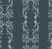 Shabby Abstract Damask Seamless Vector Victorian Pattern Wallpapper poster