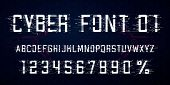Digital Vector Font Design. Letters, Numbers And Percent Symbol For Advertising Materials, Web And A poster