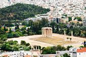 stock photo of olympian  - Temple of the Olympian Zeus at Athens - JPG