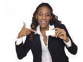 Businesswoman - Happy Business Card