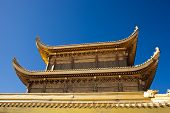 image of emei  - The golden palace on Golden Summit in Mount Emei - JPG
