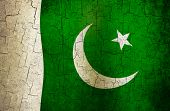 foto of pakistani flag  - Pakistani flag on a cracked grunge background - JPG