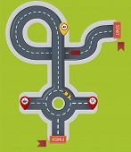 Crossroad Icon. Flat Illustration Of Crossroad Icon For Web poster