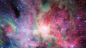 Abstract Bright Colorful Universe. Nebula Night Starry Sky In Rainbow Colors. Multicolor Outer Space poster