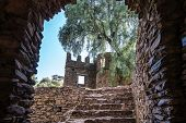 Fasil Ghebbi Is The Remains Of A Fortress-city Within Gondar, Ethiopia poster
