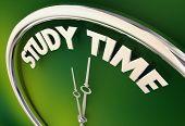 Study Time Prepare Get Ready Homework Test Clock 3d Illustration poster