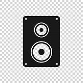 Grey Stereo Speaker Icon Isolated On Transparent Background. Sound System Speakers. Music Icon. Musi poster
