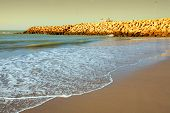 stock photo of asilah  - Atlantic Ocean at Asilah - JPG