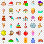 Carousel Icons Set. Cartoon Style Of 36 Carousel Vector Icons For Web For Any Design poster