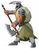 pic of paladin  - Knight attacking with an axe - JPG