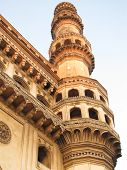 stock photo of charminar  - A shot of a single minaret of Charminar in Hyderabad - JPG