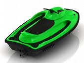 image of ski-doo  - Green PWC on a white background - JPG