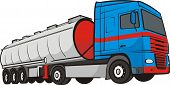 stock photo of tank truck  - large tank truck  - JPG