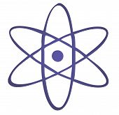 foto of radium  - Atomic symbol nuclear energy illustration clipart graphic - JPG