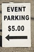 Evento estacionamiento $5,00