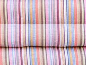 image of pillowcase  - Colorful line of the pillowcase on the bedroom - JPG