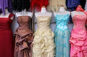 pic of wearing dress  - glamorous dresses on display - JPG