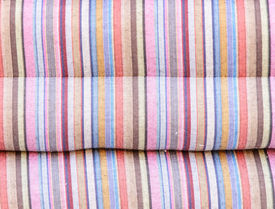 foto of pillowcase  - Colorful line of the pillowcase on the bedroom - JPG