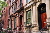 picture of brownstone  - New York City United States  - JPG