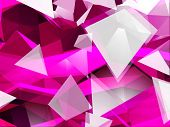 stock photo of triangular pyramids  - Abstract Triangular Background - JPG