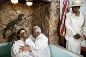 image of baptism  - Adult baptism in church - JPG