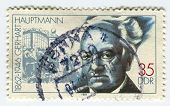GERMANY - CIRCA 1987: A stamp printed in Germany  shows image of the Gerhart Hauptmann  was a German