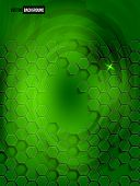 Vector abstract background Hexagon. Web