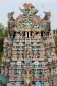 image of meenakshi  - The famous Meenakshi Amman Temple complex in the holy city of Madurai in South India - JPG