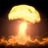 stock photo of nuke  - An image of a nuclear bomb explosion - JPG