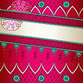 pic of brocade  - Banner in vibrant pink - JPG