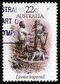 Postage Stamp Australia 1981 License Inspected, By S. T. Gill