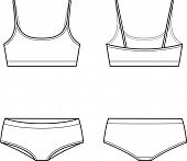 stock photo of knickers  - Vector illustration of women - JPG