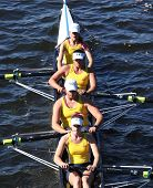 Long Beach Junior Crew races in the Head of Charles Regatta