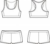 image of knickers  - Vector illustration of women - JPG