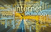 stock photo of web surfing  - Word cloud concept illustration of internet web glowing light effect - JPG