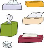 Various Facial Tissue Objects