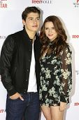 LOS ANGELES - FEB 22: Gregg Sulkin, Katie Stevens at the Abercrombie & Fitch 'The Making of a Star'